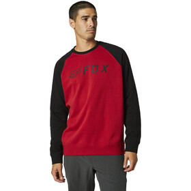 Fox Apex Crew Fleece Pullover Heren, black/red